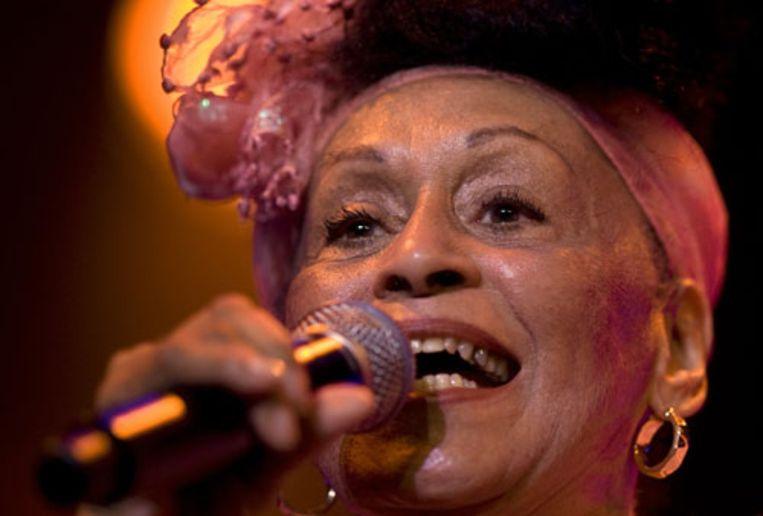 De Cubaanse Omara Portuondo op de openingsavond van North Sea Jazz in Ahoy, Rotterdam. (ANP) Beeld