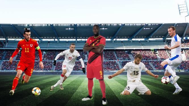 Revanche tegen Wales en nieuwe monsterscore tegen Estland? Dit moet u weten over de 4 WK-tegenstanders van Rode Duivels