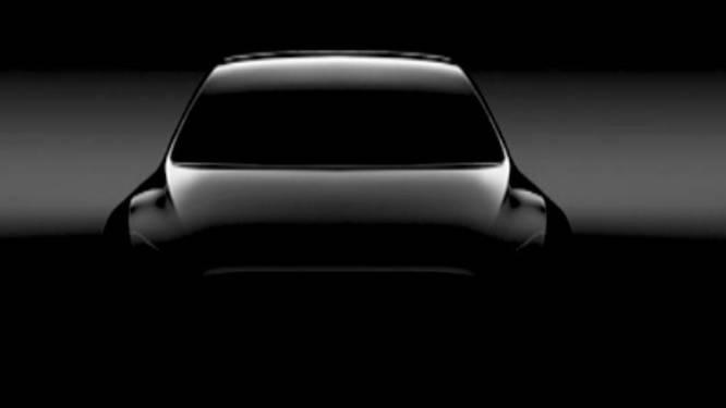 Elon Musk showt eerste glimp van Tesla Model Y