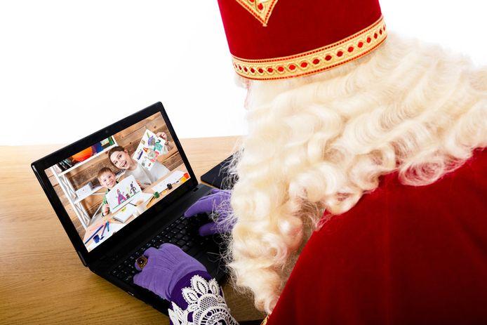 De Sint zal de Roeselaarse kinderen dit jaar groeten van achter z'n pc.