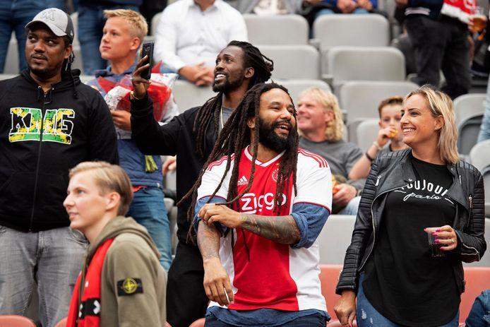 Ky-Mani Marley, met Ajax shirt, bij een wedstrijd tegen FC Emmen. Archieffoto.