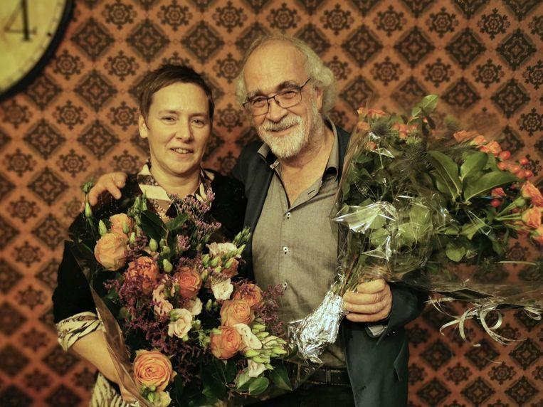 Greet De bruyn en Gil Van den Berghe werden in de bloemetjes gezet.