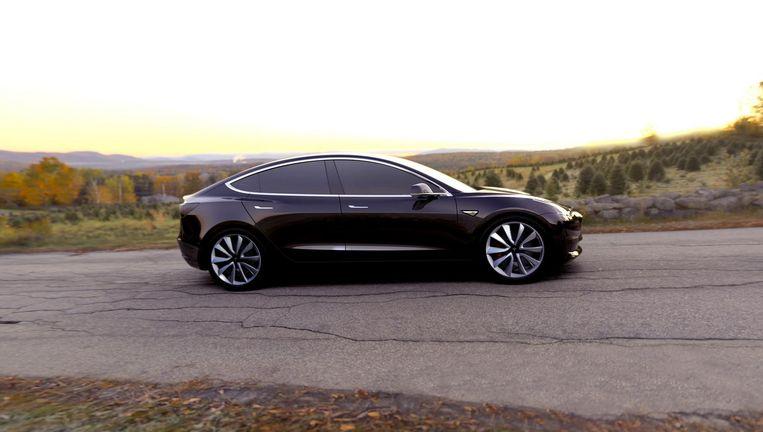 De Tesla Model 3 Beeld null