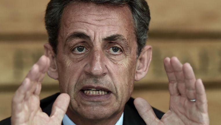Presidentskandidaat Nicolas Sarkozy. Beeld afp