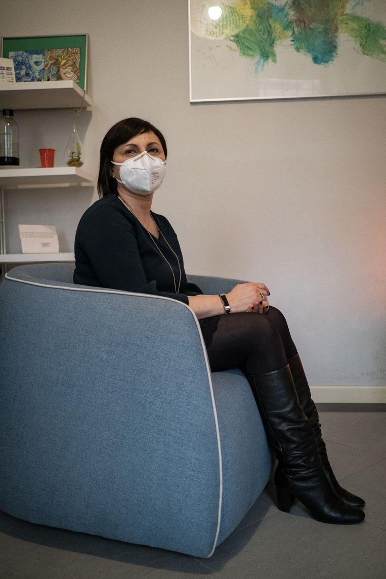 Psycholoog Sara Boschiroli: 'Het was toen echt een gezondheidscrisis. Nu is het steeds meer een mentale crisis.' Beeld Nicola Zolin