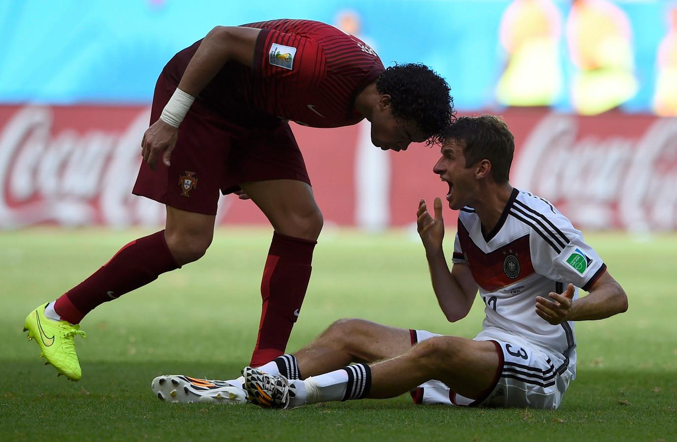 Pepe heeft het in zijn 20 jaar als profvoetballer met veel spitsen aan de stok gehad, waaronder Thomas Muller.