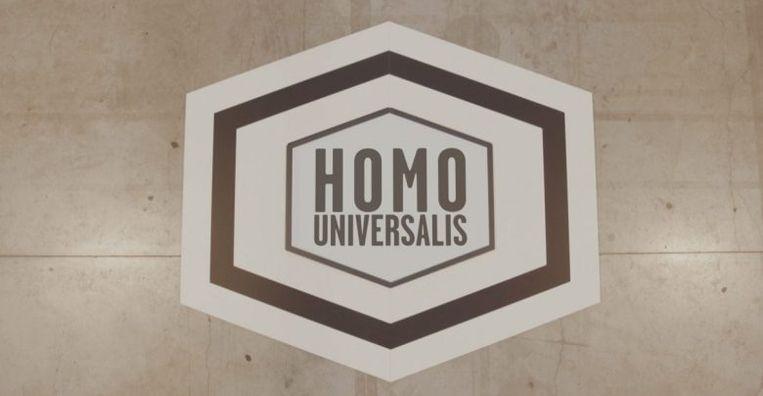 Het logo van Homo Universalis.