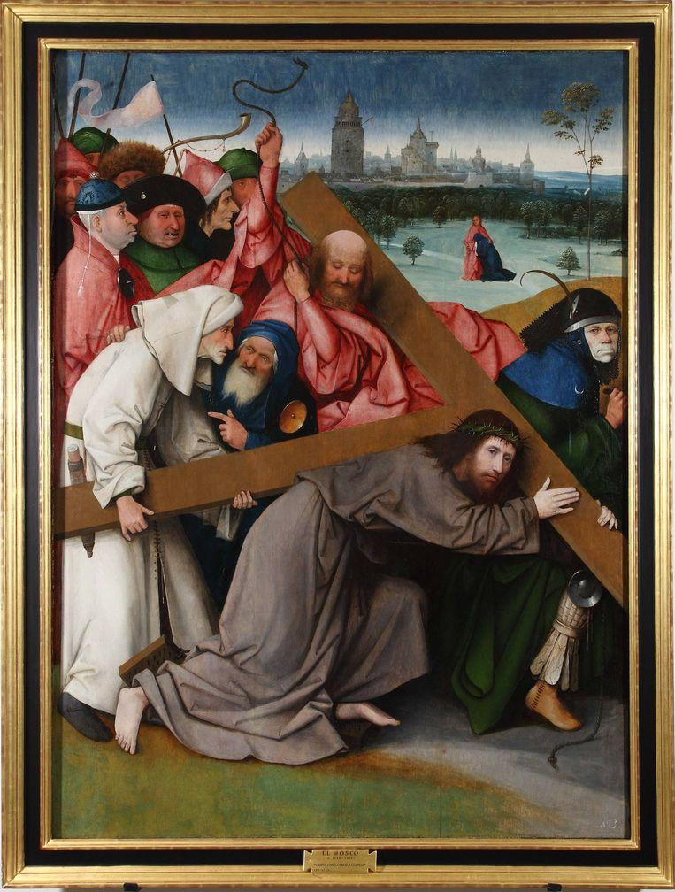 1. De kruisdraging van Christus, Bosch, rond 1498. Beeld Patrimonio Nacional