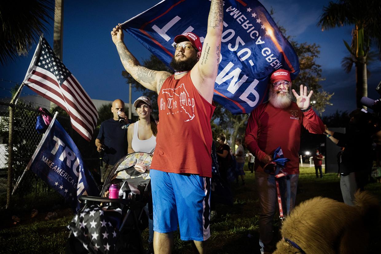 De reden dat veel latino's in het zuiden van Florida een voorkeur hebben voor Trump, komt voort uit de angst voor de communistische dictaturen waar ze vandaan komen.  Beeld Daniel Rosenthal / de Volkskrant