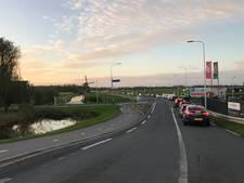 File in de polders door ongeluk op A15 bij Hendrik-Ido-Ambacht
