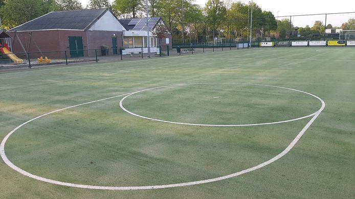 Het kunstgrasveld van korfbalclub Altior in Heeswijk-Dinther.