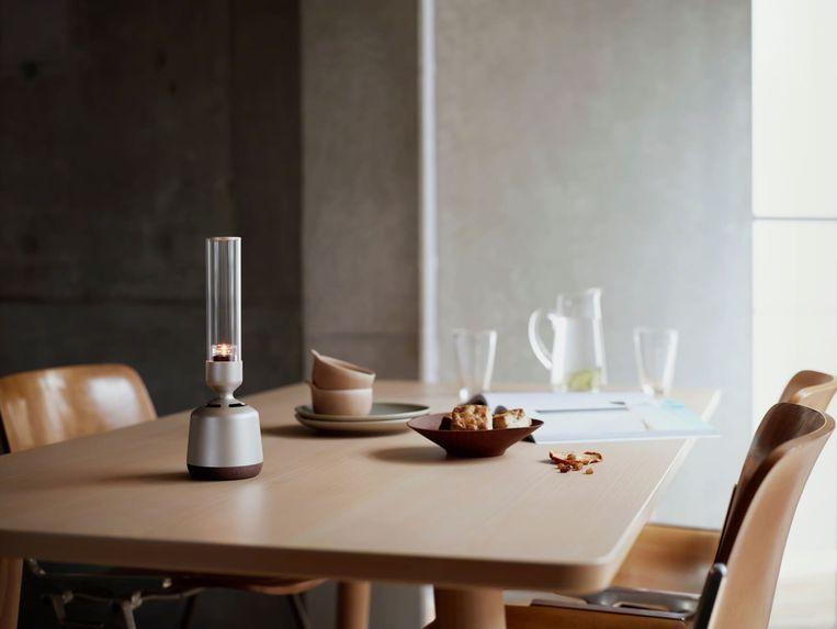 Sony presenteert een glazen speaker die eruit ziet als een kaarslichthouder Beeld Sony