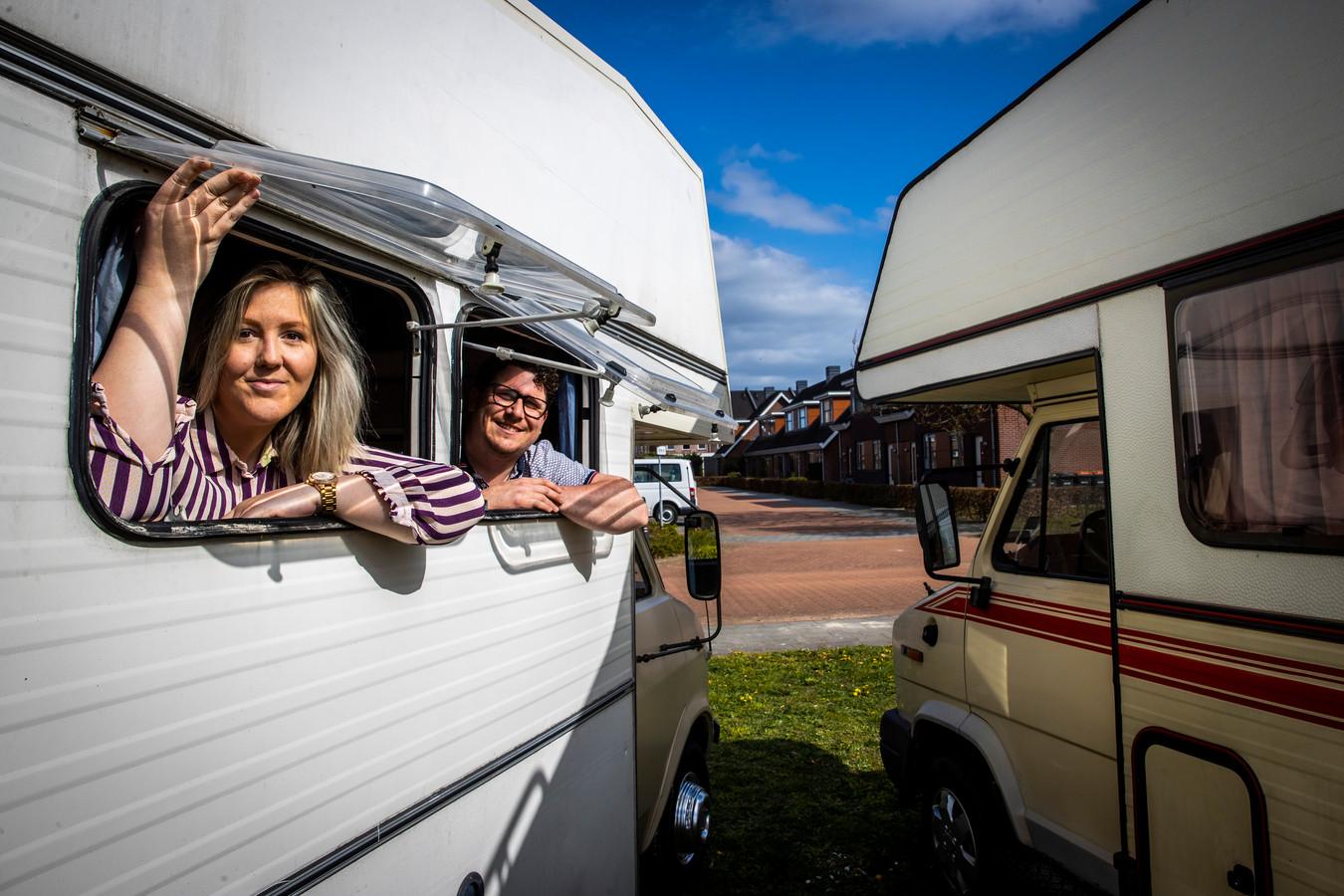 Jorieke Dries en haar man Stefan hebben vorig jaar voor het eerst een camper gehuurd en hebben er nu twee gekocht die ze in de verhuur hebben