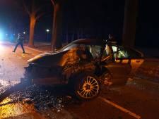 Man rijdt auto total loss door overstekend dier in Veldhoven