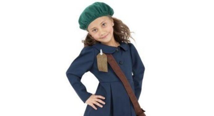 Het pakje (100 procent polyester) dat moet doorgaan voor een Anne Frank-outfit.