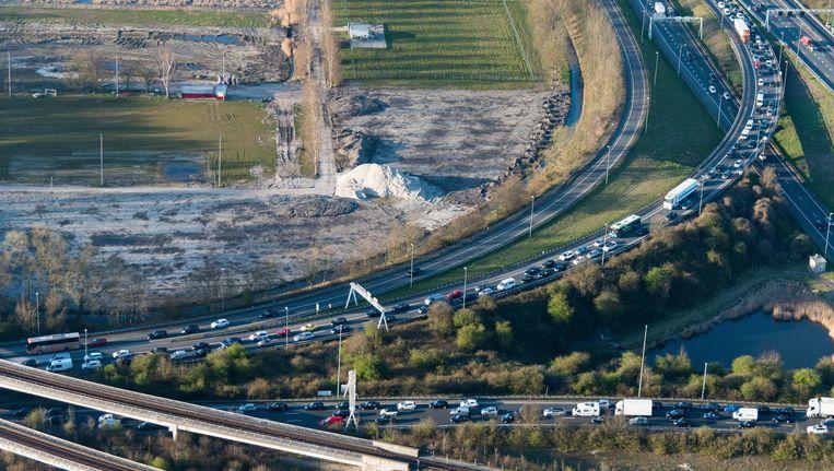 De A4 bij Schiphol. Beeld anp