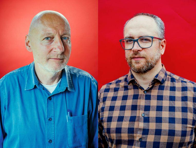 Dirk Lauwers en Lucas Melgaço. Beeld Stefaan Temmerman
