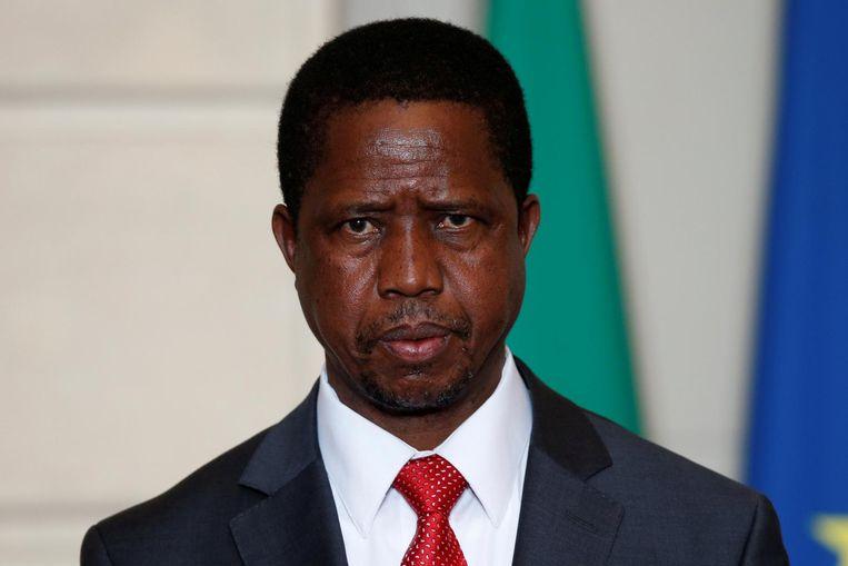 De Zambiaanse president Edgar Lungu.
