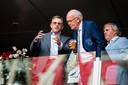 Kees Bakker (rechts) tijdens de wedstrijd tegen FC Twente
