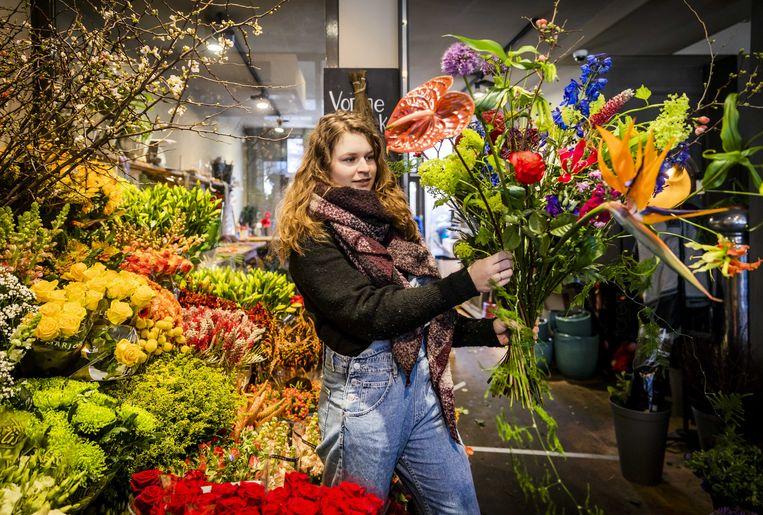 Een bloemenzaak in Amsterdam.  Beeld ANP