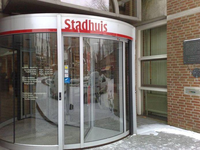 De entree van het stadhuis in Wageningen.Foto: DG