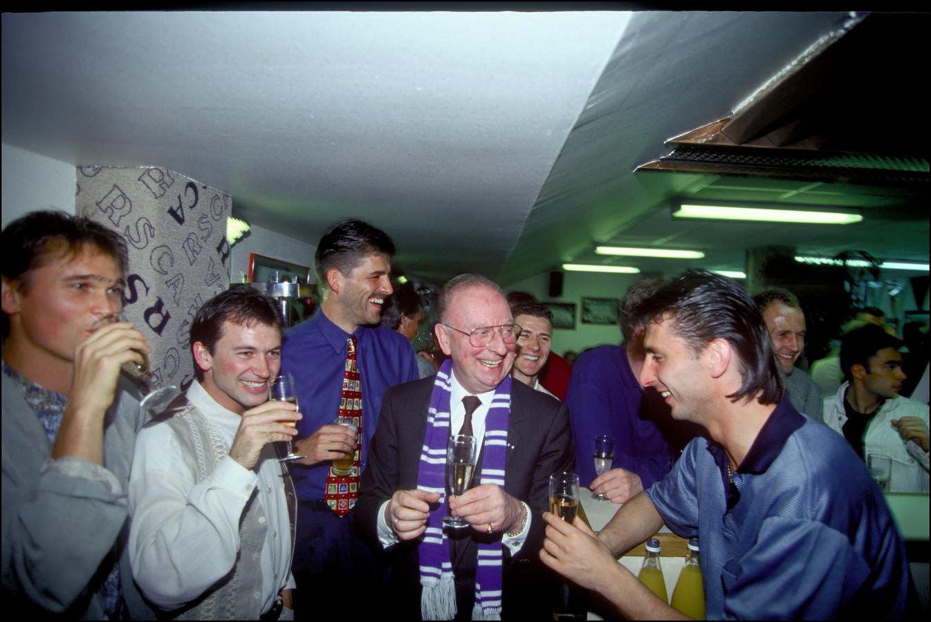 Luc Nilis (rechts) met Johny Bosman, Marc Degryse, Philippe Albert en Constant Vanden Stock.