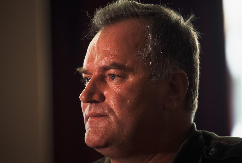 Ratko Mladic op een archieffoto. Beeld Corbis/VCG via Getty Images