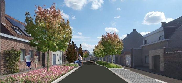 In het smallere deel van de straat moeten aanpassingen ervoor zorgen dat er niet sneller dan   30 kilometer per uur wordt gereden.