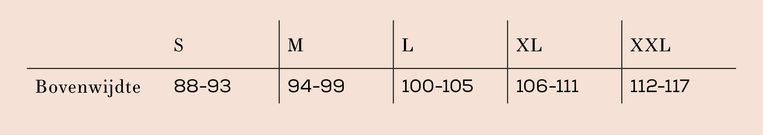 Maattabel lichaamsmaten bij lengte 1.72 m in cm Beeld