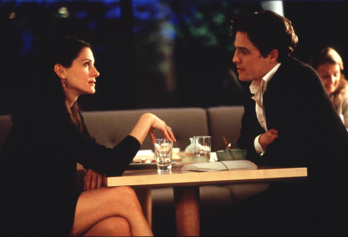 Julia Roberts en Hugh Grant in 'Nothing Hill'