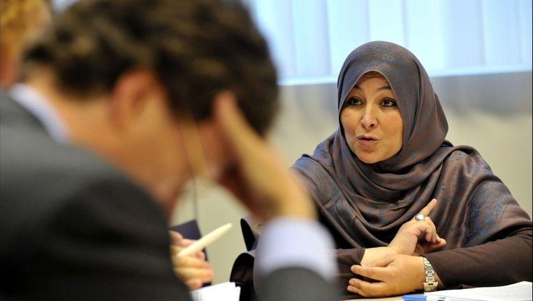 Farida Aarrass, zus van beschuldigde Ali Aarrass. Beeld PHOTO_NEWS
