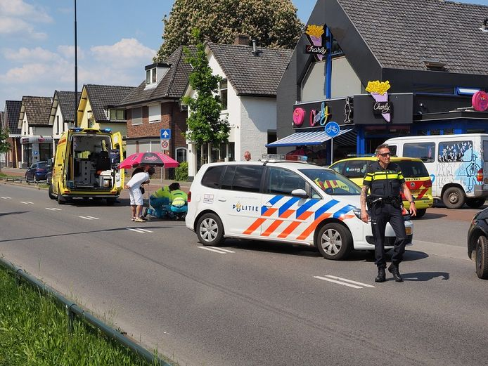 Het ongeluk vond plaats ter hoogte van Cafetaria Charly.
