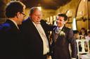 Ron van Welzen op de bruiloft van broer Arno