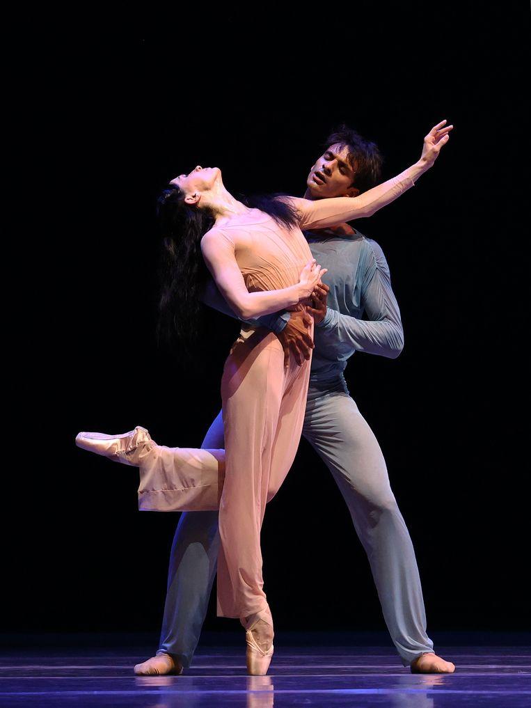 Anna Tsygankova en Constantine Allen in The Two of Us van choreograaf Christopher Wheeldon door Het Nationale Ballet Beeld Hans Gerritsen