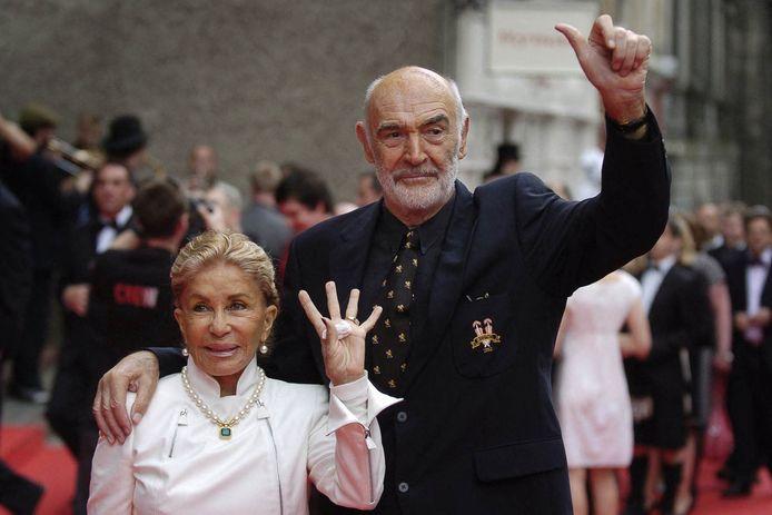 Sean Connery en zijn vrouw