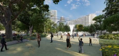 'Met kinderen lijkt het me een hachelijk avontuur om over het Hofplein te wandelen'