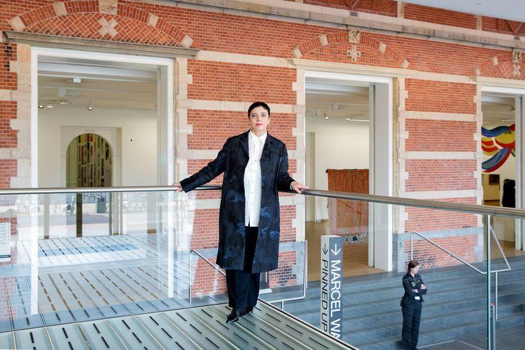 Beatrix Ruf in het Stedelijk Museum. Beeld ANP