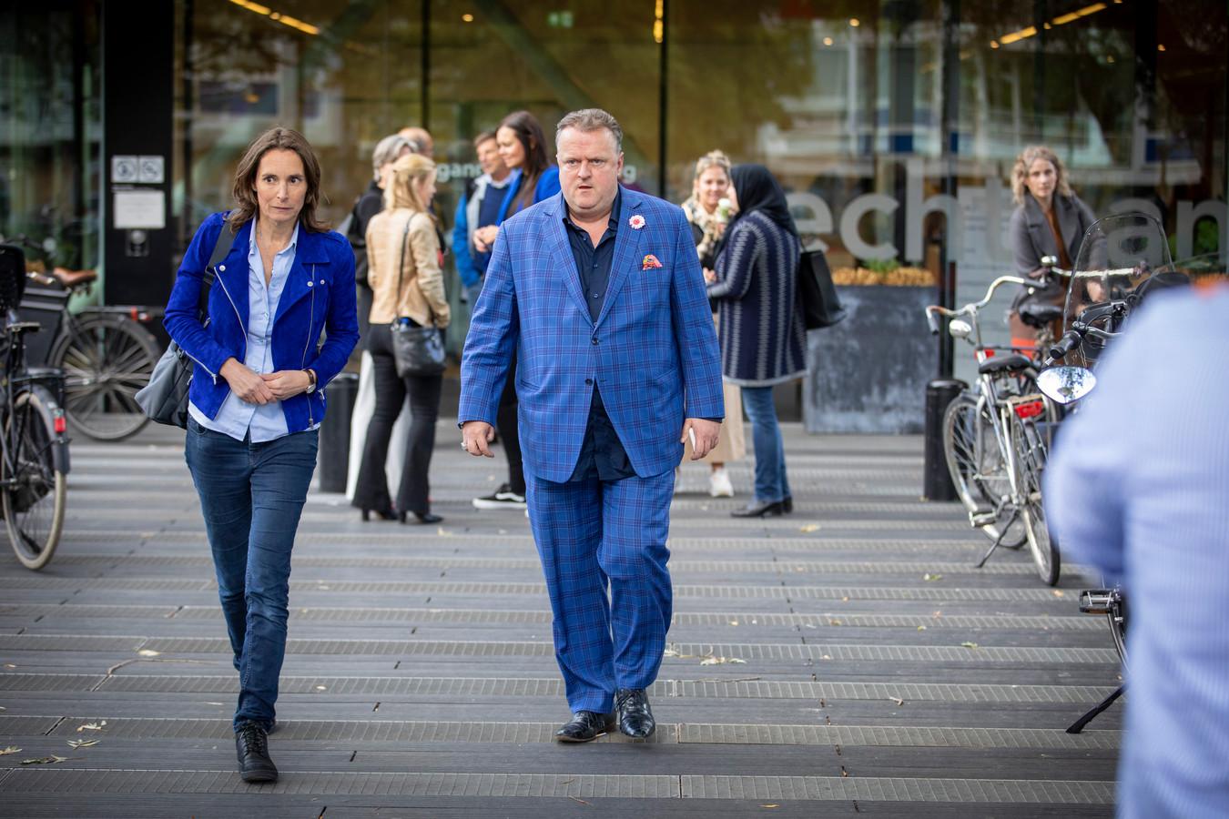 Advocaat Richard Korver voor de Amsterdamse rechtbank.