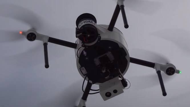 Mini-thermoscan met drone maakt proefvlucht boven Sint-Ulriks-Kapelle