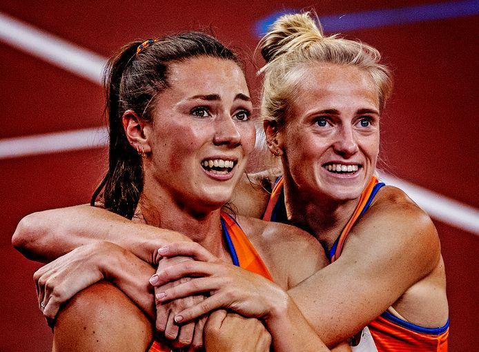 Emma Oosterwegel (brons) en Anouk Vetter (zilver) hebben het geflikt in de meerkamp!