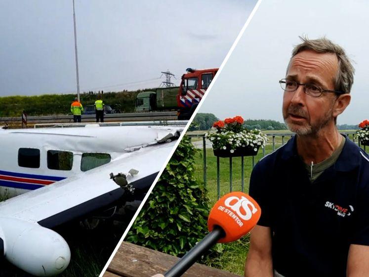 Piloot verricht heldendaad met noodlanding langs A50: 'Mijn vrouw is geschrokken'