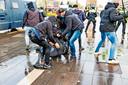 Chaos bij rellen in Eindhoven.