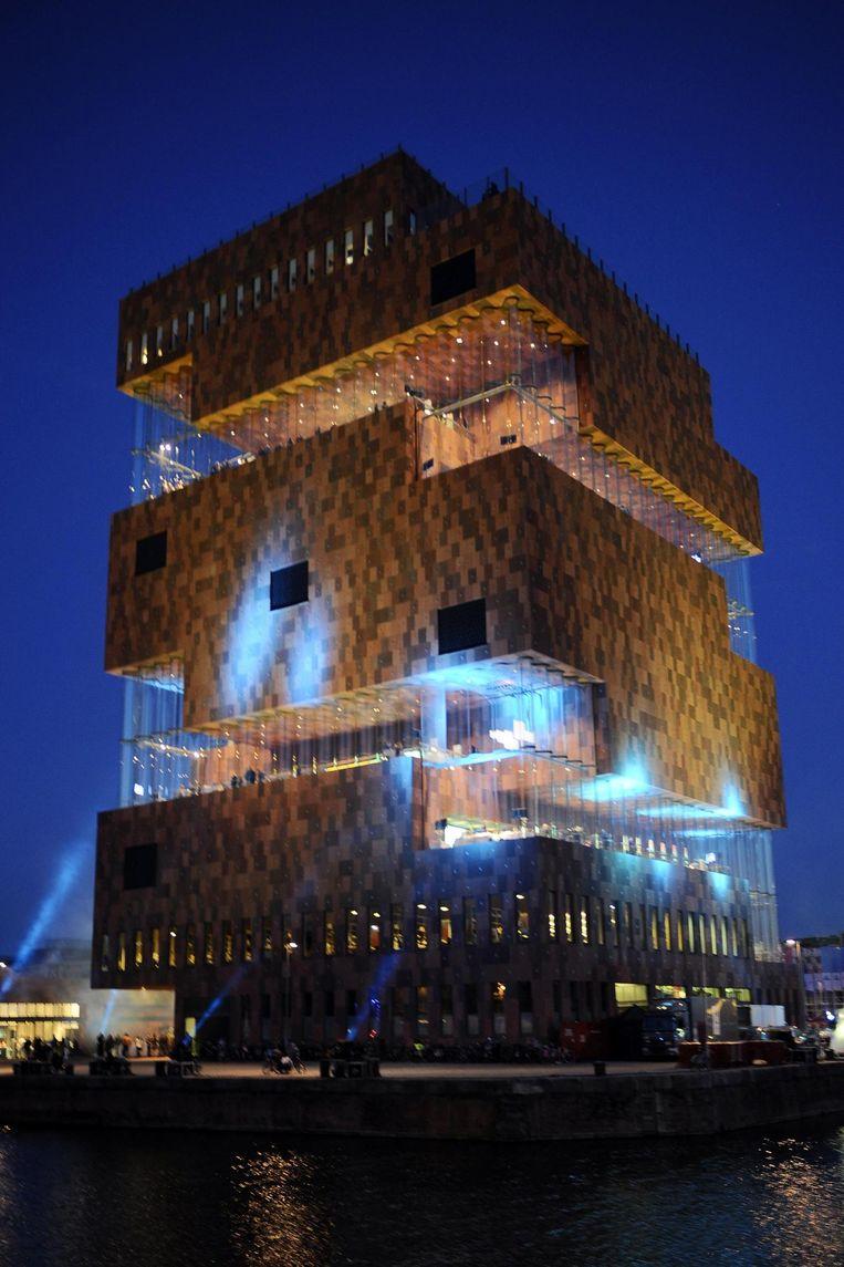 Museum aan de Stroom op Het Eilandje in Antwerpen. Beeld BELGA