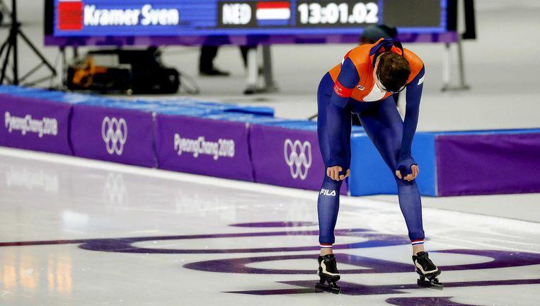 Data-analisten voorspelden al dat Sven Kramer de 10 kilometer niet zou winnen Beeld ANP