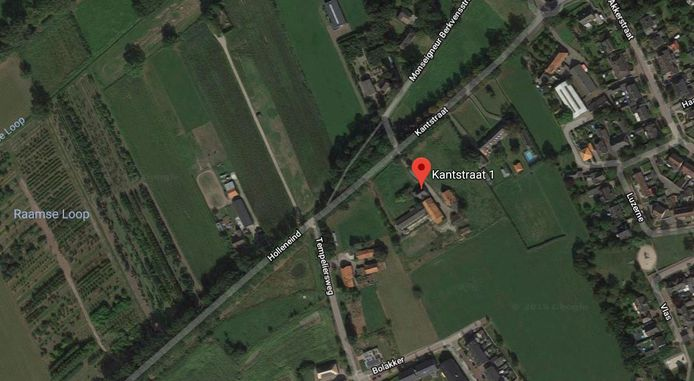 Achter het pand Kanstraat 1 in Haaren kunnen mogelijk veertig woningen worden gebouwd.