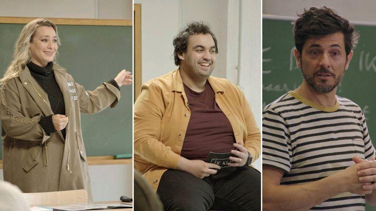 An Lemmens, Kamal Kharmach en Dieter Coppens. Beeld Humo