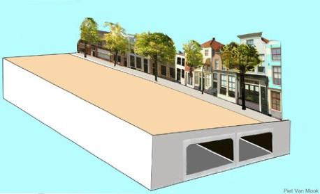 Impressie van ondoordoorgang in stadsgebied (Bovon Breda).