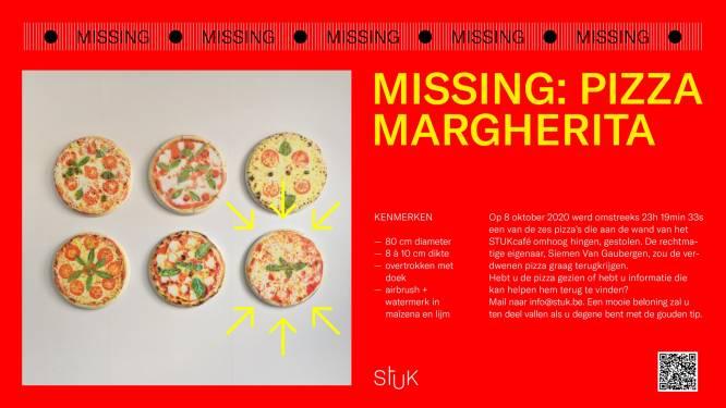 Vermiste pizza stiekem teruggebracht naar STUKcafé