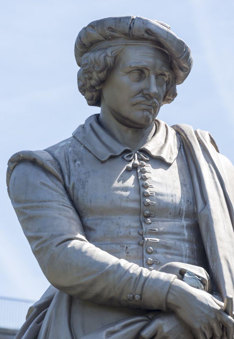 Het standbeeld van Rembrandt op het Rembrandtplein in Amsterdam. Beeld anp