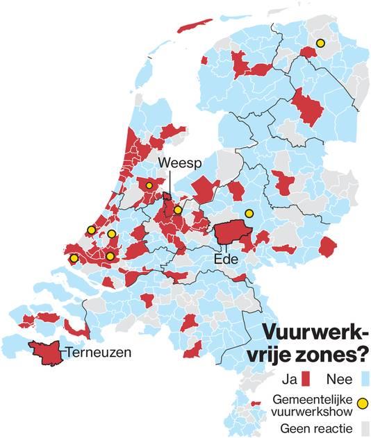 Uit een inventarisatie van deze krant, bleek vorig jaar ook al dat het aantal vuurwerkvrije zones in Nederland oprukt.